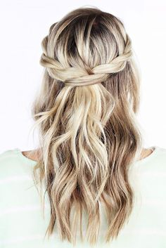 Chic And Easy Wedding Guest Hairstyles ❤ See more: http://www.weddingforward.com/wedding-guest-hairstyles/ #weddings #WeddingNails