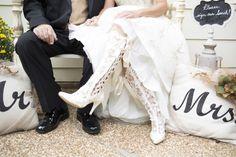 Beatrice Elliot ivory lace wedding boots