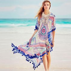 136a60e0a158 Floral Vintage Bathing Suit Cover up. Beach Wear DressesDay DressesSummer  ...