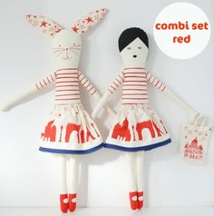 """When I spotted this adorable pair of dolls on Etsy, I thought """"how perfect for my girls!"""" They would love to learn how to sew their own toys and this kit makes it easy"""