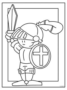 Knight In Shining Armor Coloring Pages – Coloring for every day Colouring Pages, Coloring Books, Chateau Moyen Age, St Georges Day, Medieval Party, Knight Party, Dragon Knight, Knight In Shining Armor, Armor Of God