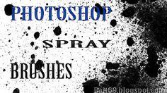 Pincéis (Brushes) de Spray para Photoshop | Bait69blogspot