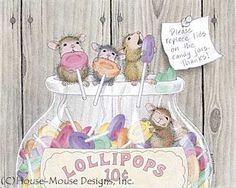 """Monica, Mudpie, Maxwell and Amanda from House-Mouse Designs® featured on the The Daily Squeek® for July 16th, 2013. Click on the image to see it on a bunch of really """"Mice"""" products."""