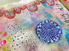 """Every Life Has a Story!"" - {Roben-Marie Smith} - Stamped Fabric Pouch Tutorial by Rae Missigman."