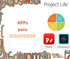 apps para scrapbook Apps, Project Life, Digital Scrapbooking, Photoshop, Chart, Projects, Log Projects, App, Appliques