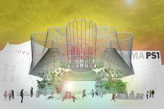 Visualización de COSMO por Andrés Jaque/Office for Political Innovation, ganador del diseño para el Programa de Jovenes Arquitectos 2015, del Museo de Arte Moderno MoMA y MoMAPS1. Imagen cortesía de Andrés Jaque/Office for Political Innovation.