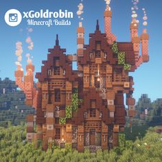 minecraft building ideas I built a steampunk house! : Minecraft I built a steampunk house! Lego Minecraft, Construction Minecraft, Cute Minecraft Houses, Minecraft House Tutorials, Minecraft Plans, Minecraft Survival, Minecraft Tutorial, Minecraft Blueprints, Minecraft Designs