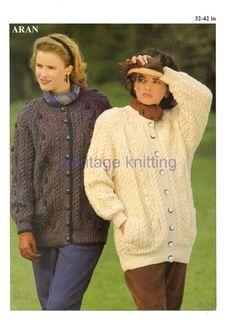 womens aran jackets knitting pattern 99p pdf