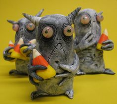 lowbrow clay one of a kind infestation Halloween by mealymonster, $26.00