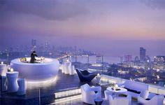 Thirty four floors above street level, AER BAR, the highest rooftop bar in India. - Four Seasons Hotel, Mumbai.