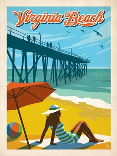 Virginia Beach, VA - Anderson Design Group has created an award-winning series of classic travel posters that celebrates the history and charm of America's greatest cities and national parks. This print features a charming view of Broad Street in historic downtown Charleston. Printed on heavy gallery-grade matte finished paper, this print will look great on any home or office wall.