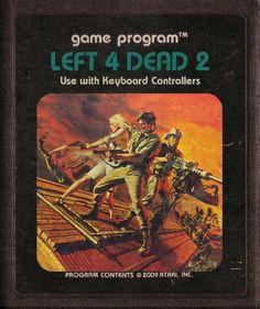 Left 4 Dead 2 - #Atari Video Game Cartridges by starroivas #deviantart