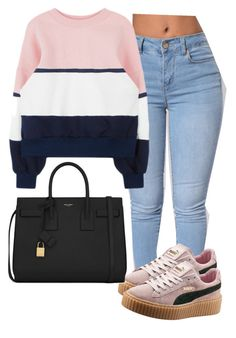 """Untitled #154"" by tdgaaf on Polyvore featuring Puma and Yves Saint Laurent"