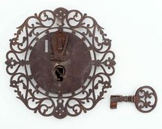 Lock and key from Mexico, Spanish Colonial period, about 1750–1800. Museum of Fine Arts, Boston.