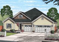 Craftsman Cottage - 52247WM | 1st Floor Master Suite, Butler Walk-in Pantry, CAD Available, Country, PDF, Traditional | Architectural Designs