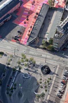 Superkilen / Topotek 1 + BIG Architects + Superflex; Arquitectura Urbana; Nørrebro, Copenhagen.