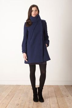 Winter bargain! One last size left, L in this fab coat, now £67.50! www.popthefashionstore.com  Gabriel funnel coat – Pop The Fashion Store