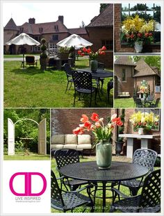Southern European Inspired Garden at Adamsleigh Showhouse Greensboro | The Decorating Diva, LLC