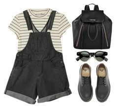"""""""Sundown"""" by bluis-h ❤ liked on Polyvore featuring Dr. Martens, Calvin Klein and Monki"""
