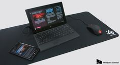 SteelSeries QcK XXL Gaming Mousepad review Surface Pro, SteelSeries Rival 100, and Lumia 1520
