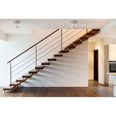 Staircase design images in kerala house interior stairs decorating of your o pretty modern stair railing ideas pictures Modern Stair Railing, Stair Railing Design, Staircase Railings, Stairways, Loft Staircase, Railing Ideas, Staircase Ideas, Staircase Design Modern, Cable Railing