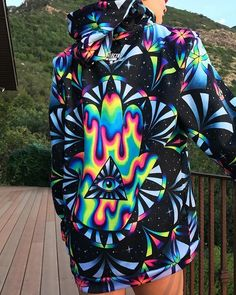 New Trippy Hamsa pullover hoodie is a stand out awesome sweatshirt from the clothing line electro threads Electro Festival Outfit, Rave Festival, Festival Wear, Festival Outfits, Festival Fashion, Festival Clothing, Hamsa, Psytrance Clothing, Electro Threads