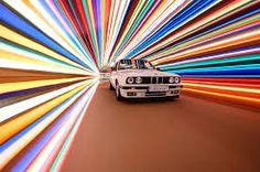 "germaniron: "" Tunnel of light, BMW "" Bmw E30, Automotive Photography, Car Photography, Conceptual Photography, Creative Photography, Bmw Wagon, Bmw Parts, Automotive Art, Frames"