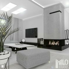 Open Plan Kitchen Living Room, Living Room Modern, Living Room Interior, Home Living Room, Modern Bedroom, Home Interior Design, Living Room Designs, Living Room Decor Fireplace, Home Fireplace