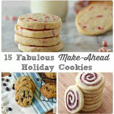 15 make ahead holiday cookies..