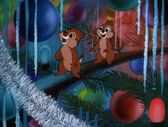"""Inside christmas tree in """"Pluto's Christmas tree"""" (Disney, 1952). Whenever I decorate the tree I imagine how it will look like from Chip and Dale's point of view."""