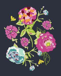 Garden Rocket Art Print 8 x 10 by BariJ on Etsy, $22.00