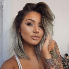A focus on eyes. Beauty Makeup, Hair Makeup, Hair Beauty, Hair Inspo, Hair Inspiration, Natural Hair Styles, Short Hair Styles, Actrices Sexy, Hair 2018