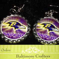 Baltimore Ravens Earrings on Etsy, $5.50