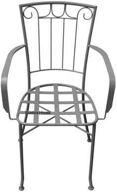 A #artisan crafted #forged #iron #chair for veranda, #rustic #patio and #garden. It is #Mexican in #black iron, #rusted and #natural finishing. Iron furniture are part of #RusticaHouse #rustic home and garden collection. Use it for adding warmth to your house #decor. #myRustica