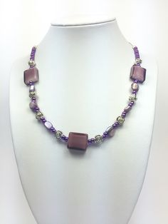Purple mother pearl necklace