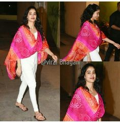Jhanvi kapoor Kalamkari Designs, Salwar Designs, Blouse Designs, Casual Indian Fashion, India Fashion, Kurta Patterns, Dress Patterns, Indian Dresses, Indian Outfits