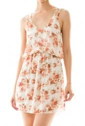 Country Fair Floral Print Dress in Ivory #dress #dresses #womenclothing #cute