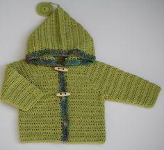 13 - Patron tutoriel de gilet à capuche bébé au crochet - tailles 1 mois à 2 ans