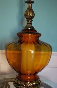 antique blown glass table lamps - Google Search