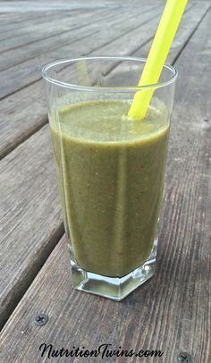 Tropical Green Smoothie | Only 200 Calories | Great Morning Energy Boost | Packed with Protein, Fiber & Phytonutrients to Neutralize Toxins | For MORE RECIPES, fitness & nutrition tips please SIGN UP for our FREE NEWSLETTER www.NutritionTwins.com