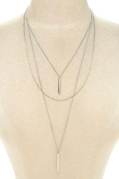 Matchstick Layered Necklace