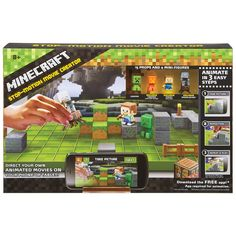 Direct your own Minecraft stop-motion movies! The Minecraft Stop-Motion Movie Creator combines game-authentic figures and accessories with a free mobile app for fans to create their own custom movies.