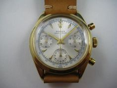 A ROLEX RARE 14K YELLOW GOLD CHRONOGRAPH REF.6238 UNDERLINE TRANSITIONAL DATES 1962-63 High End Watches, Chronograph, Dates, Rolex, Yellow, Stuff To Buy, Accessories, Gold