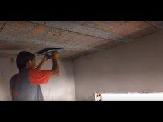 A melhor maneira de rebocar teto (laje) de forma rápida e fácil. Sem chapar a massa. - YouTube