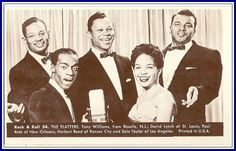 The Platters  Number 54  Collectible Rock and Roll  Arcade or Exhibit Card