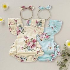 Newborn Baby Girl Floral Romper With Headband – DailyBestBuys