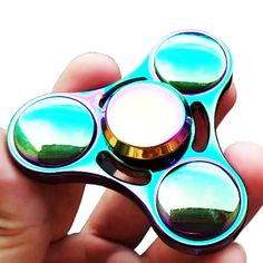 New EDC Finger Spinner Toys Colorful Rainbow Mental Anti-anxiety Hand Spiner Fidget Toy for Kids & Adults High Speed Stress toy Edc, Spinner Toy, Stress Toys, Fidget Toys, Classic Toys, High Speed, Kids Toys, Anxiety, Mirrored Sunglasses