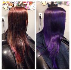 Pravana vivids violet hair!