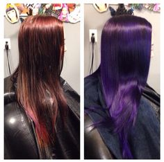 Pravana vivids violet hair!                                                                                                                                                                                 More