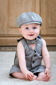 Who needs a shirt when you have an adorable cap, tie and vest!